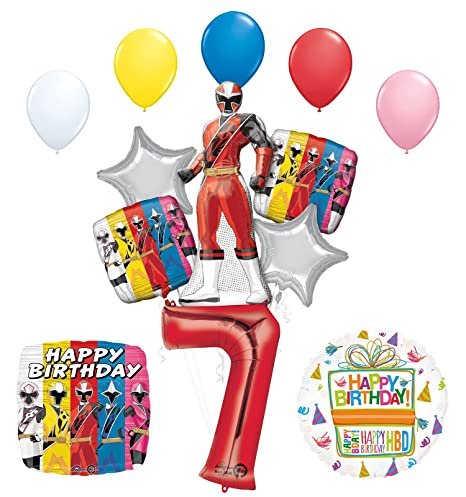The Ultimate Power Rangers Ninja Steel 7th Birthday Party Supplies and Balloon Decorations