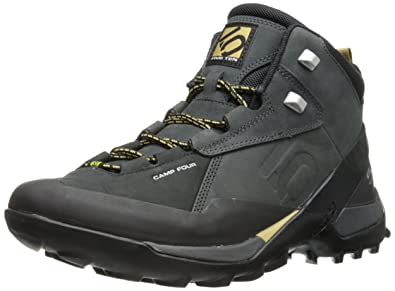 Five Ten Men's Camp Four Mid Hiking Boot, Black/Solid Grey, ...