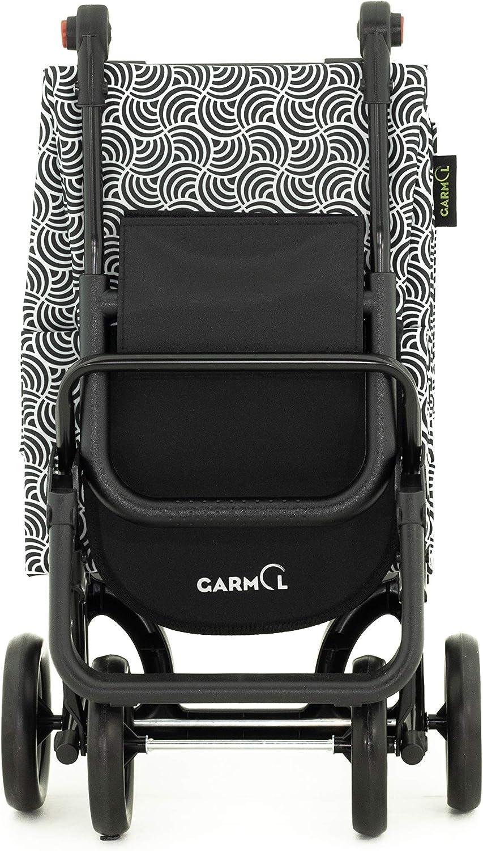 Garmol Carro Compra 55L Blanco y Negro