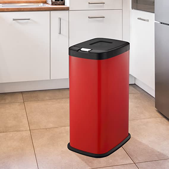 Mülleimer | Abfallbehälter Küche von HARIMA | 38L Rot Abfalleimer ...