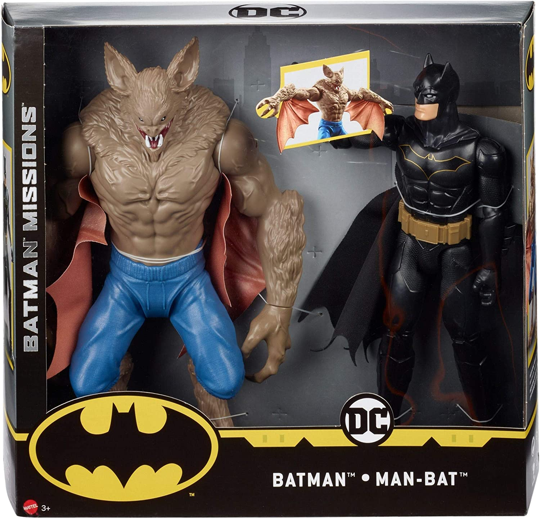 DC BATMAN MISSIONS™ Pack de 2 figuras Batman y Manbat (Mattel ...