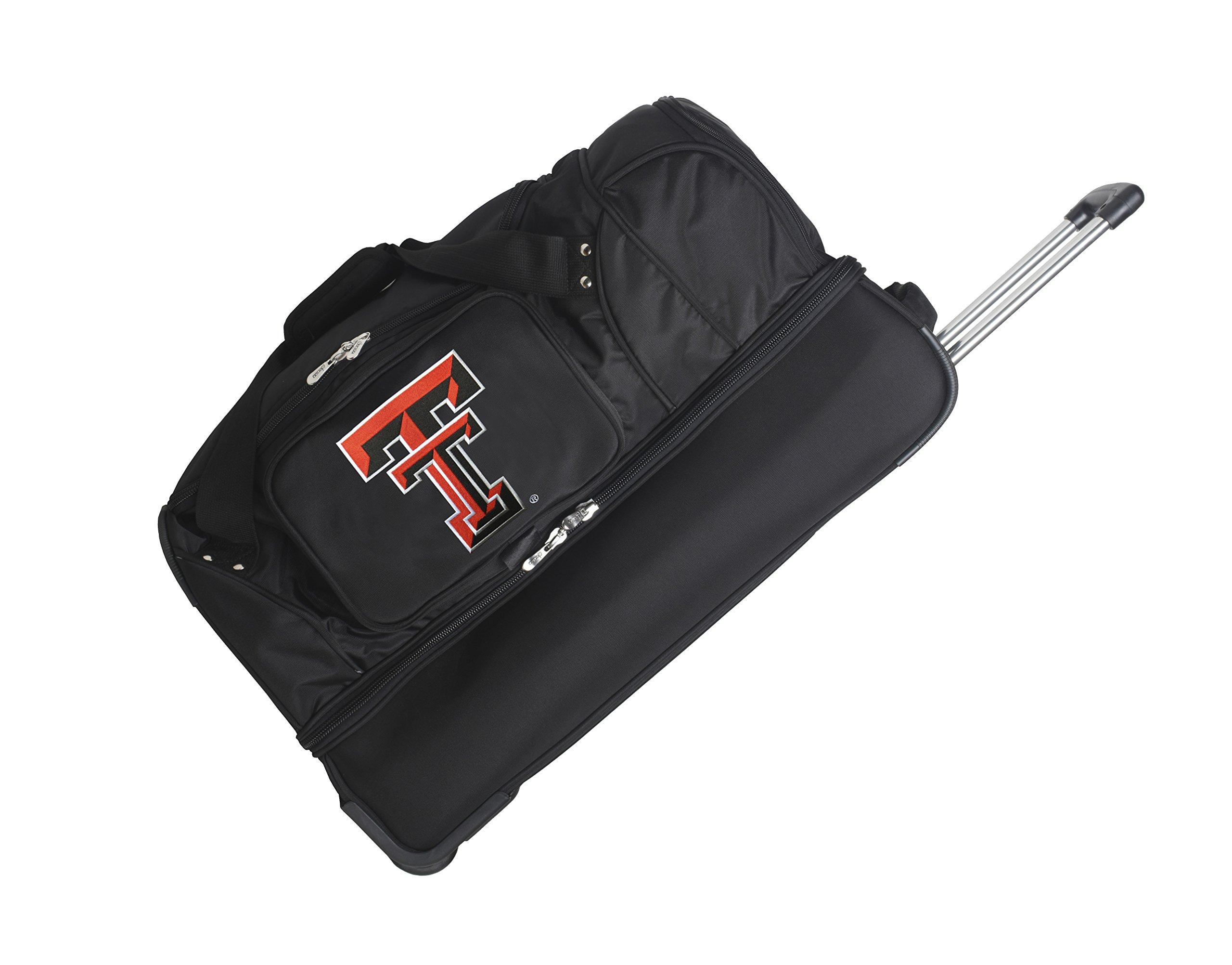 NCAA Texas Tech Red Raiders Rolling Drop-Bottom Duffel by Denco (Image #1)