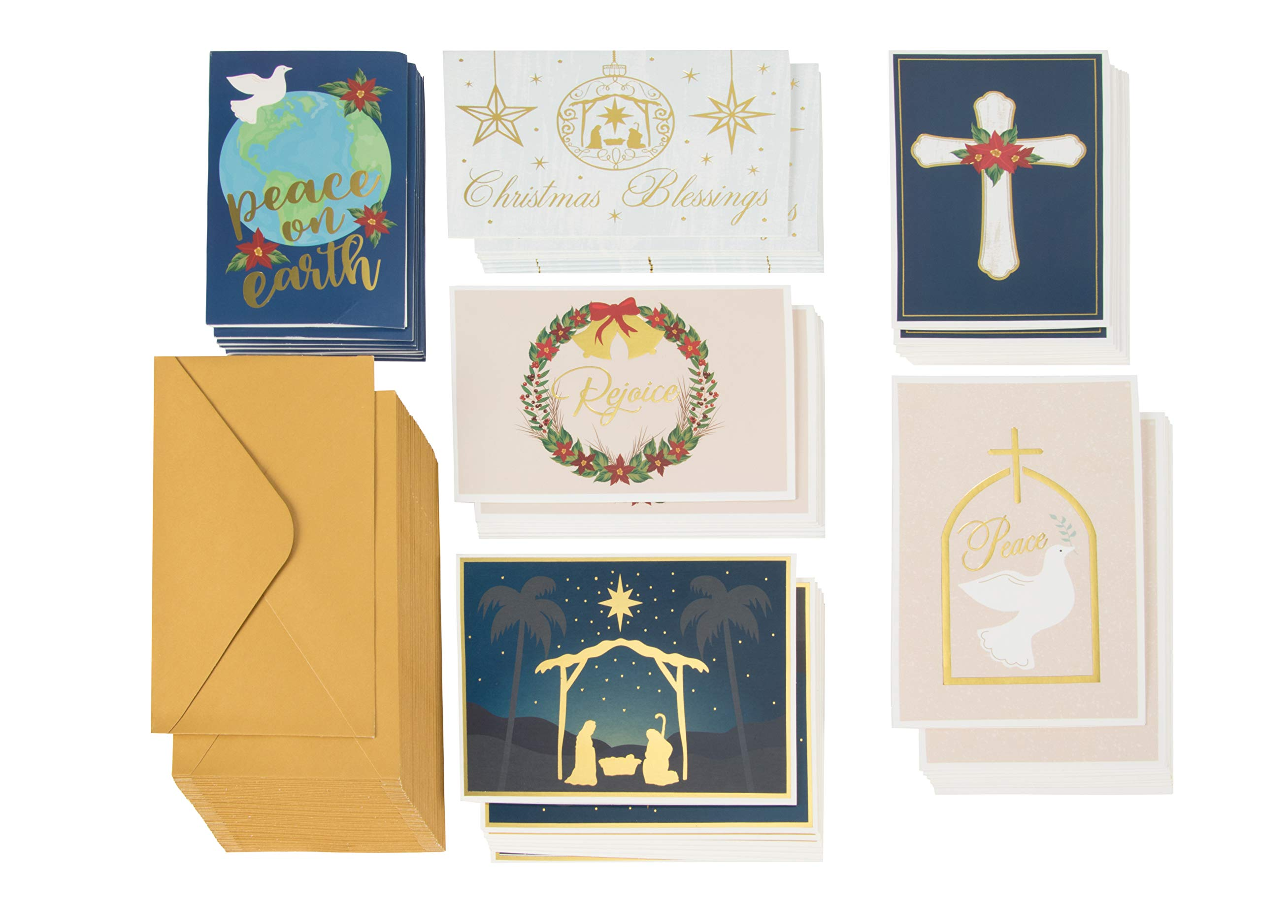 Amazon 36 Pack Merry Christmas Greeting Cards Bulk Box Set