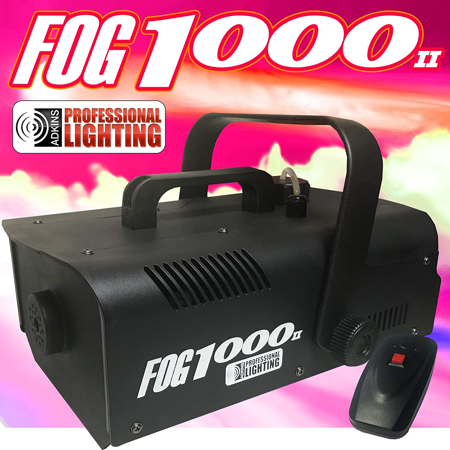 Fog Machine - 1000 Watt W/Remote - Impressive 8,000 Cubic ft. per minute - Adkins Professional Lighting FOG1000II