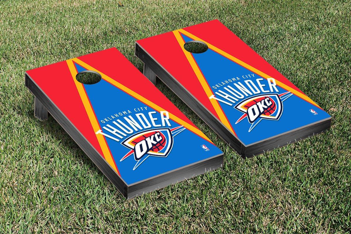 Oklahoma City Thunder NBA Basketball Cornhole Game Set Triangle Version
