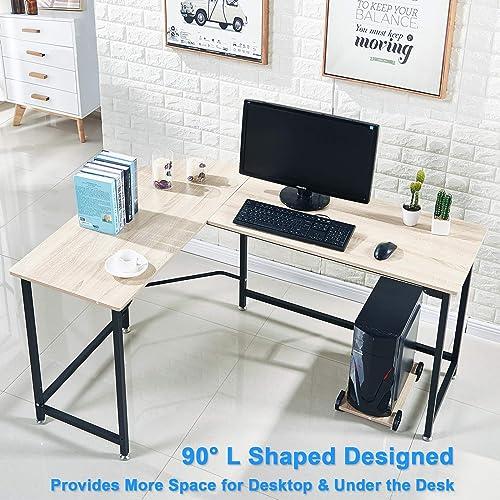 Elephance L Shaped Desk Corner Computer Desk PC Table Gaming Table Writing Desk
