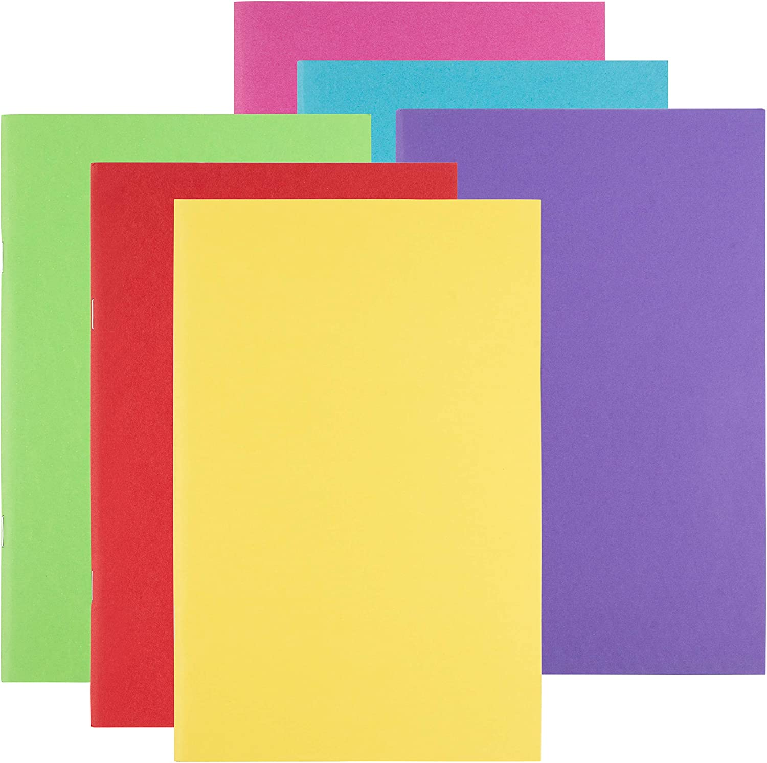 Paper Notebook Journals for Students 5.5 x 8.5 Inches, 24-Pack 6 Colors