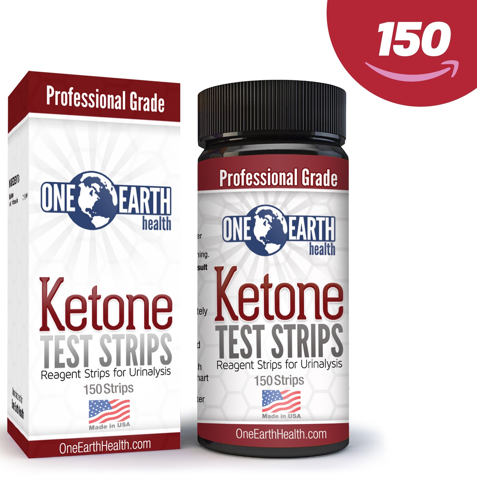 Ketone Strips (USA Made, 150 count): Accurate test strips for Keto Diet, Diabetics and Ketone measurement. Lose weight with confidence. Includes Ebook emailed. Lifetime Guarantee