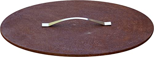 Fire Pit Cover/Lid Medium 24.8'' Rusting Steel