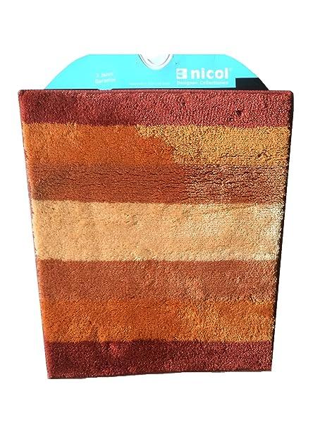 Badteppich Von Nicol Atlanta Terracotta 60 X 60cm Konisch Amazon De