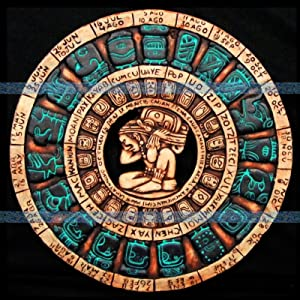 Mayan Calendar Maya Aztec Plaque Mexico Mexican Pottery Home Decor Ancient Art 039