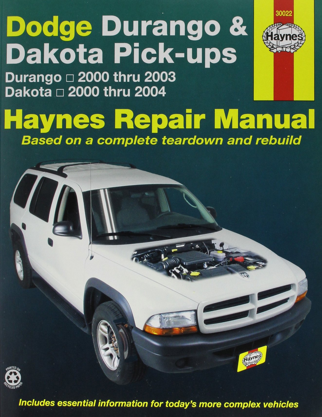 Dodge Durango And Dakota Pick Ups 2000 2003 Repair Manual 0038345300226 Amazon Com Books
