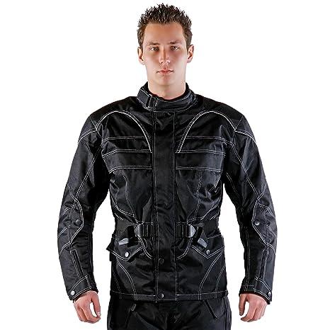 Lemoko Textil Motorradjacke schwarz wei/ß Gr M