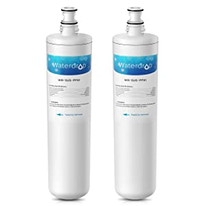 Waterdrop Undersink Water Filter, Compatible Filtrete Advanced 3US-PF01, 3US-MAX-F01H, 3US-PF01H, Manitowoc K-00337, K-00338, K00337, K00338, Delta RP78702, Pack of 2