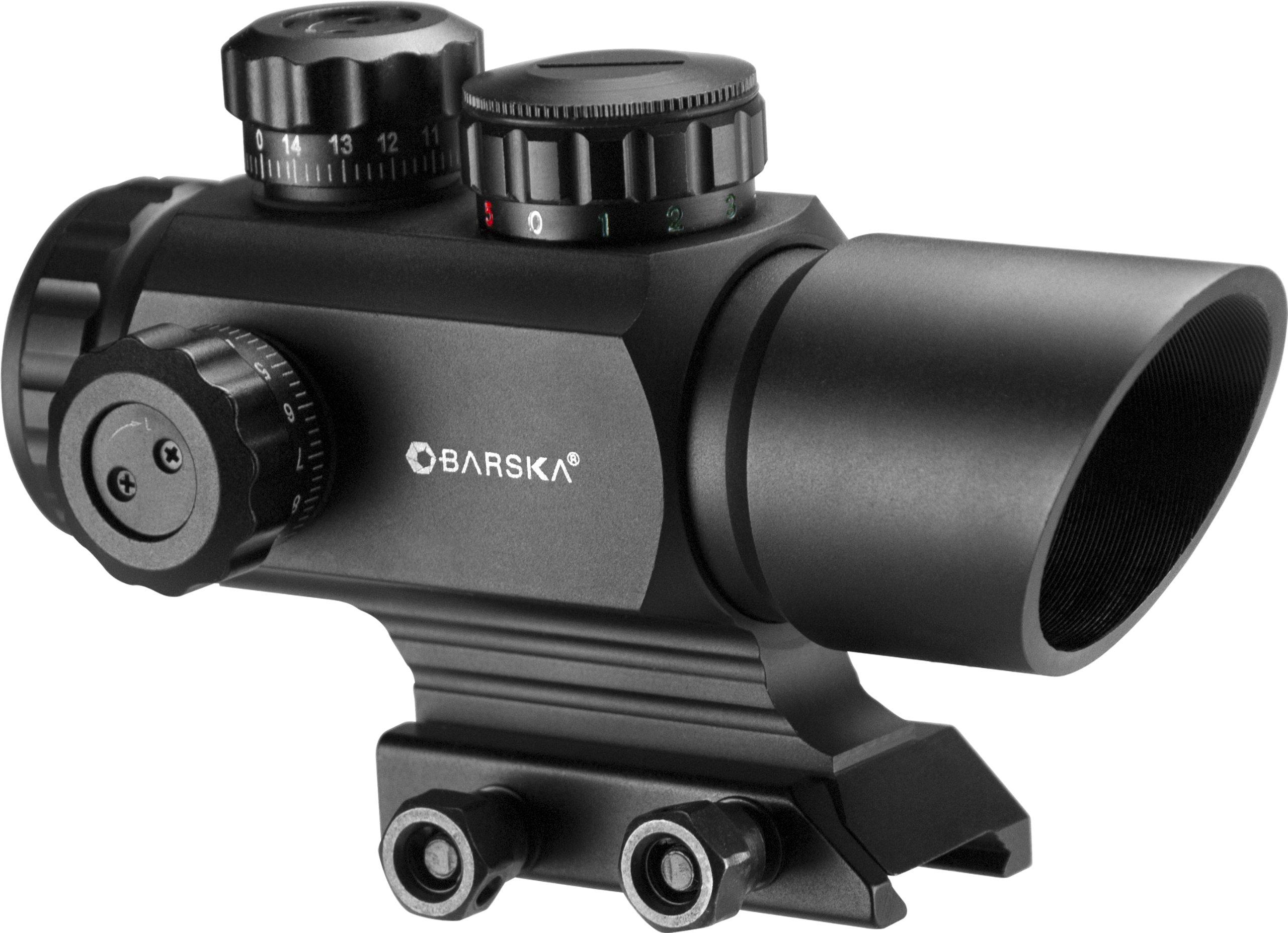 BARSKA AC12176 ARX Multi Reticle Red Dot Optics, 1x 35mm, Matte Black