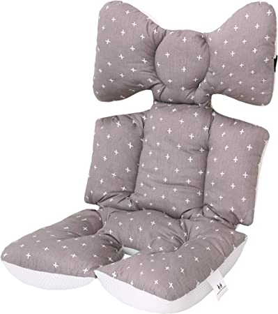 Baby Seat Liner Thickened Dots Print Seat Cushion Stroller Accessories UK