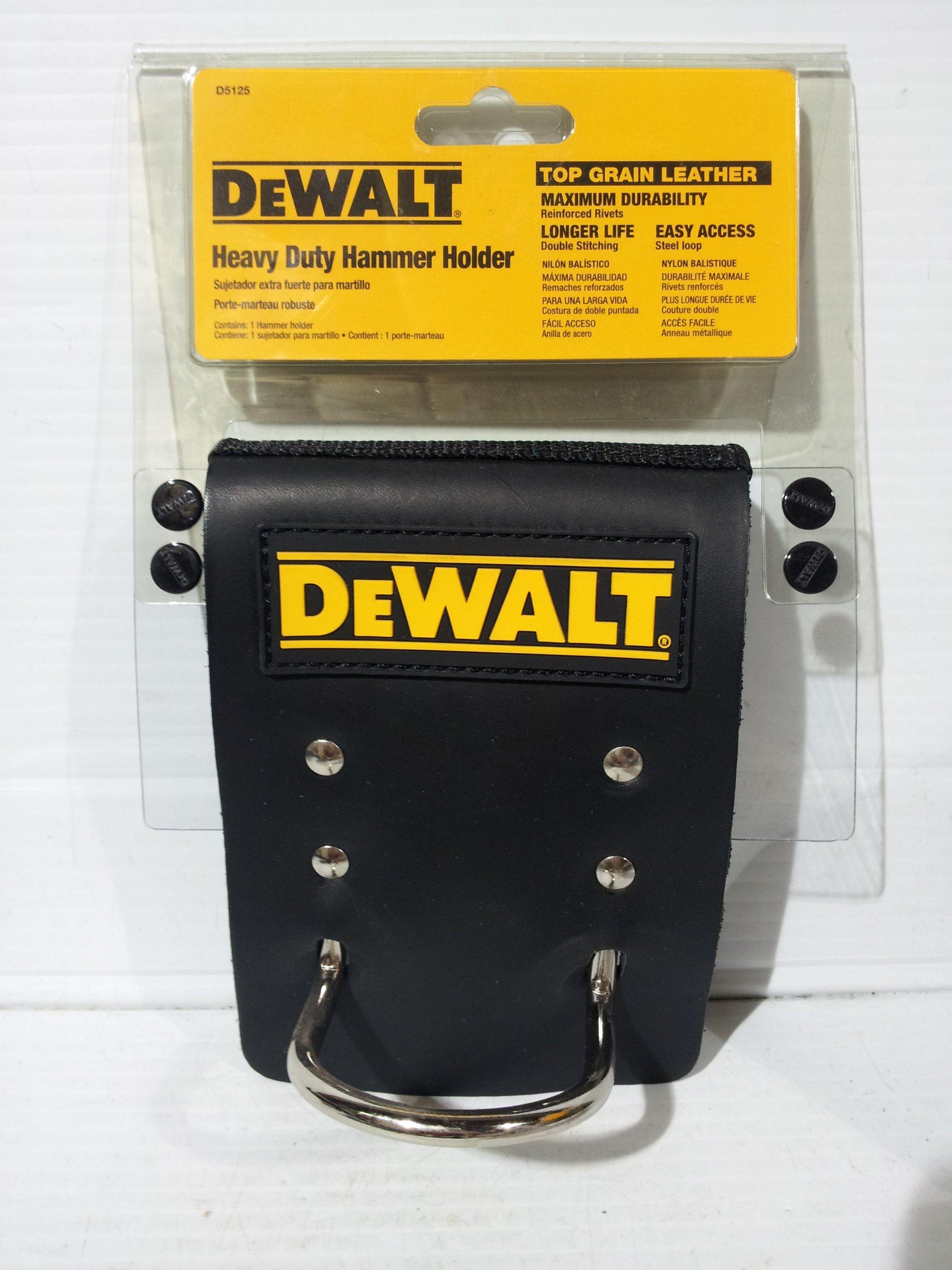 DEWALT D5125 Heavy Duty Top Grain Leather Hammer Holder
