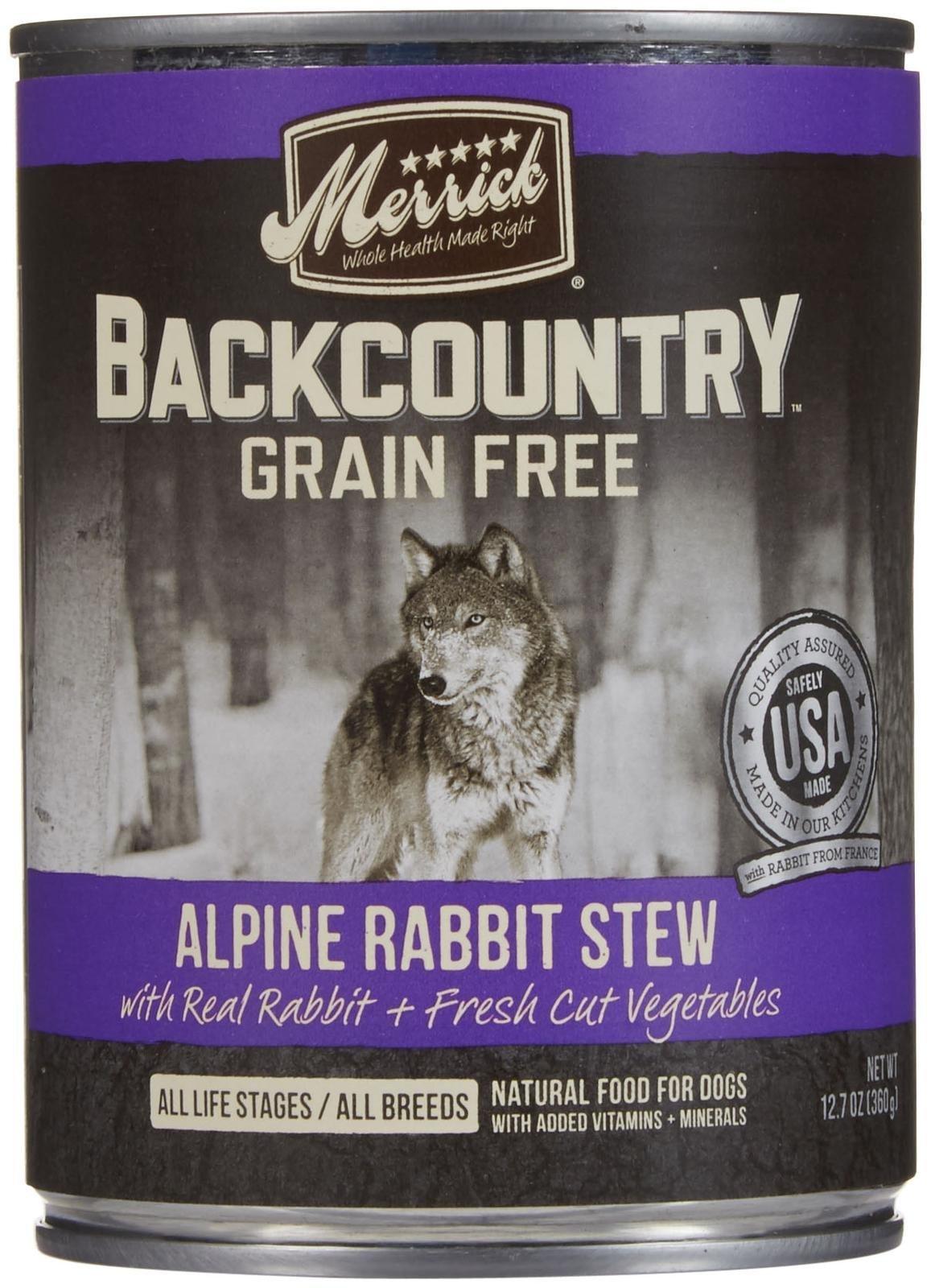 Merrick Backcountry - Alpine Rabbit Stew - 12.7 oz - 12 ct