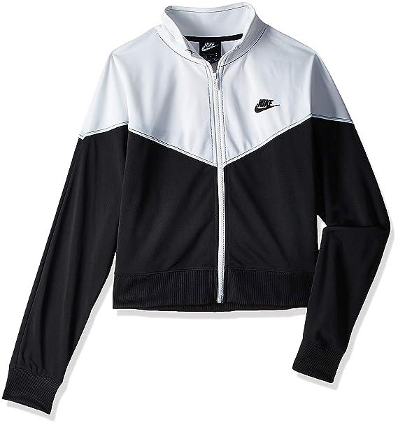 Nike Heritage Track Jacket PK, Giacca Sportiva Donna, White