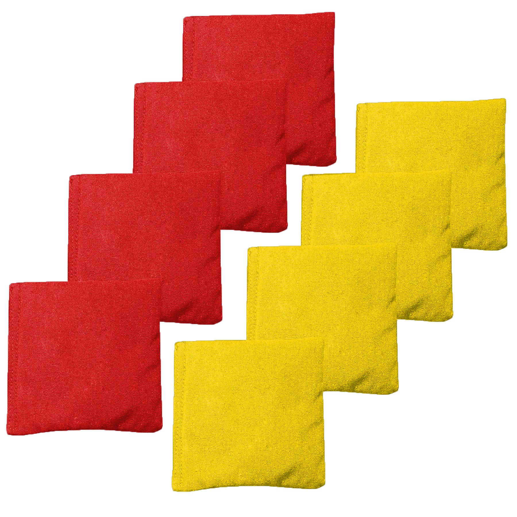 Play Platoon Weather Resistant Cornhole Bean Bags Set of 8 - Red & Yellow by Play Platoon