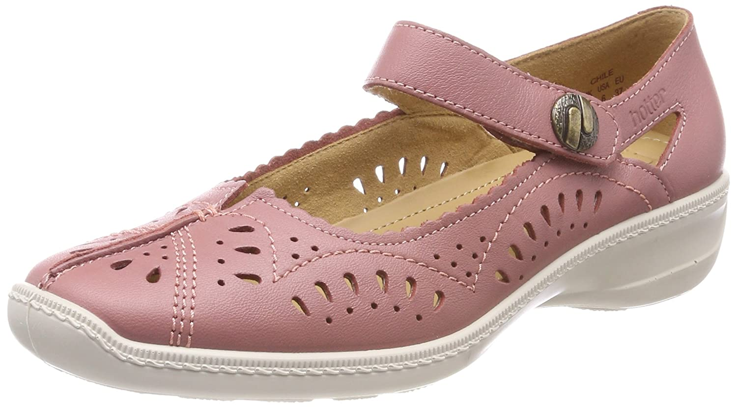 Hotter Damen 082) Chile Mary Jane Halbschuhe, beige Pink (Salmon 082) Damen d0e1a2