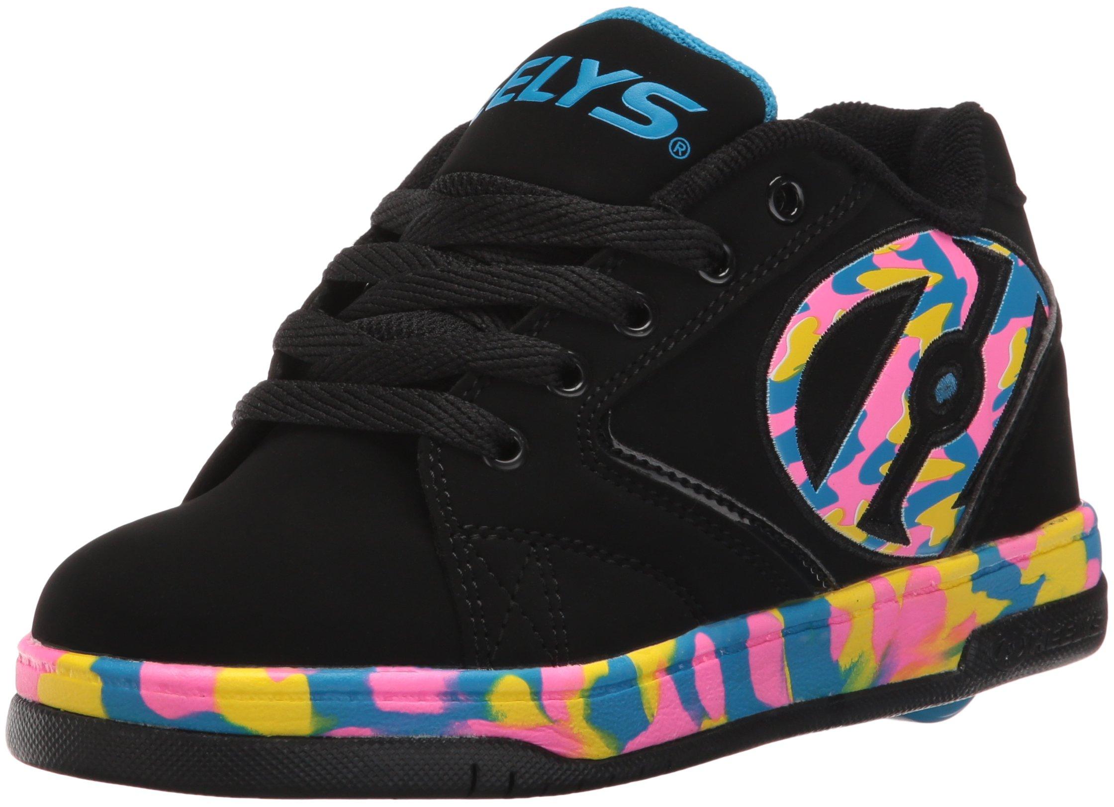 Heelys Propel 2.0 Men's Sneaker,Black/Pink/Blue Confetti,3 M US Big Kid