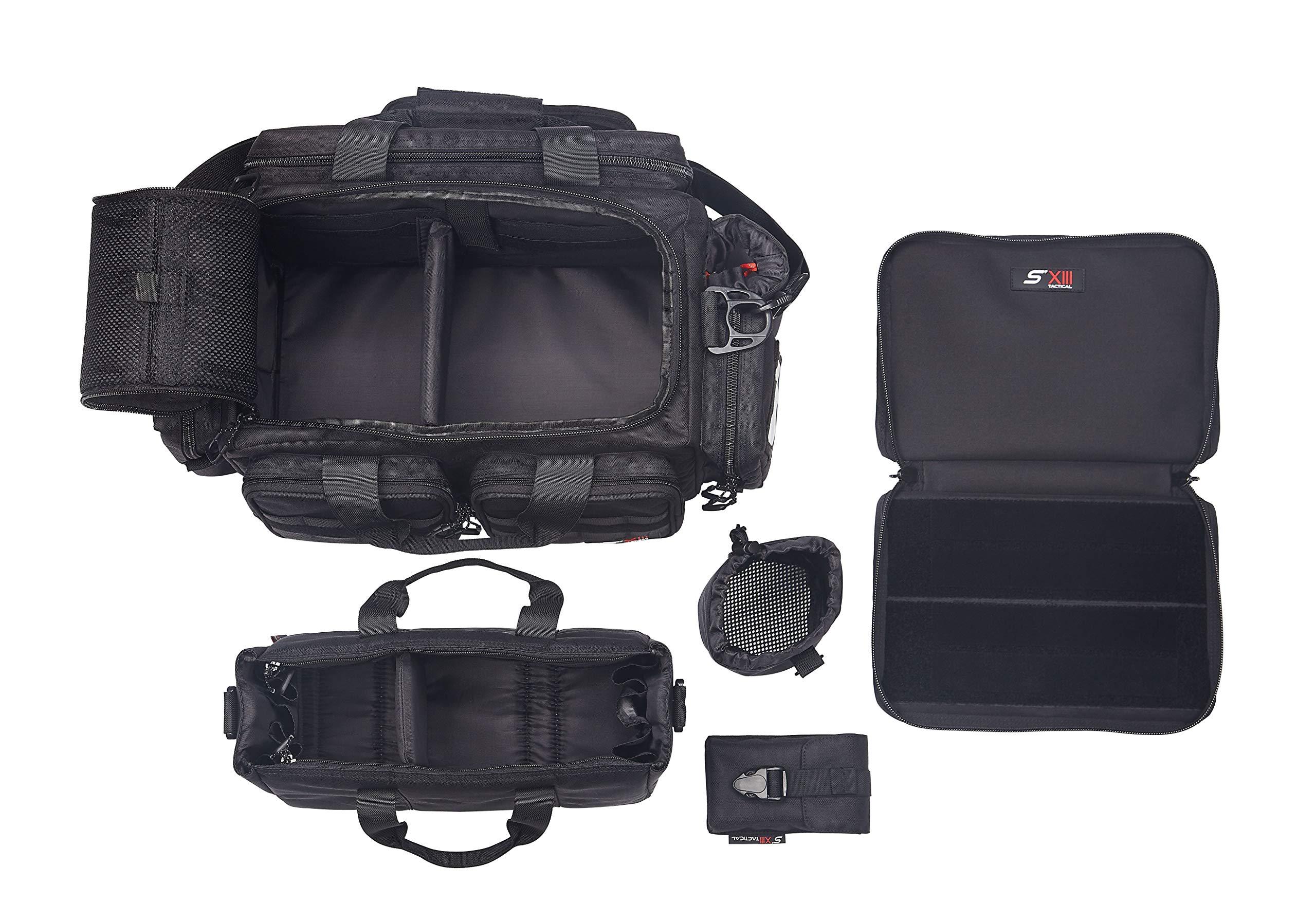 SXIII S13 RB1-BLK 1000D Ballistic Denier Tactical Pistol Range Bag (Black)