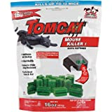Tomcat Mouse Killer I Tier 1 Refillable Mouse Bait Station, 1 Station with 16 Baits (Bag)