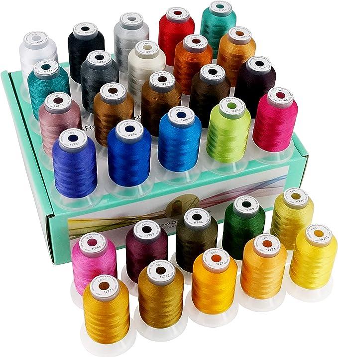 New brothread 30 Nuevos Janome Colores Poliéster Máquina Bordado ...