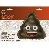 "Emoji Party Supplies - 32"" Giant Foil Helium Poop Emoji Balloon Decoration"