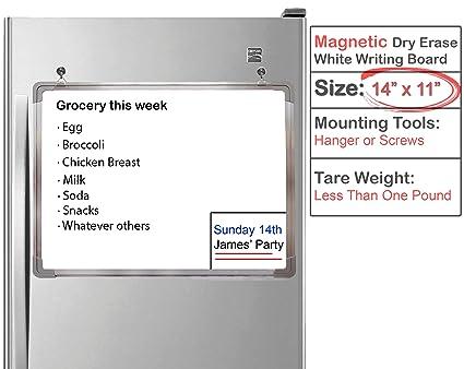 EGI - Pizarra blanca magnética pequeña de borrado en seco ...