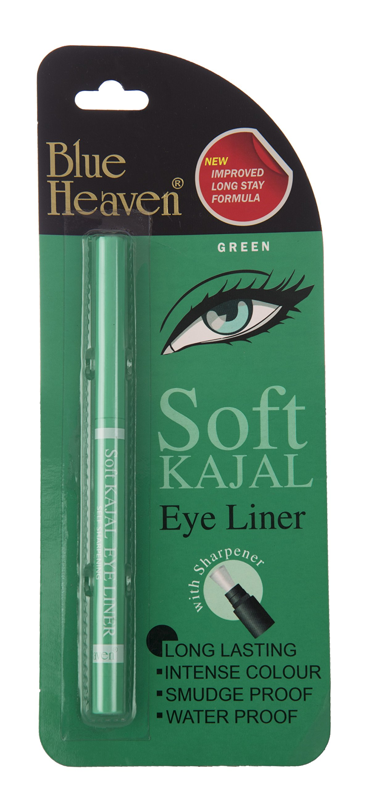 Blue Heaven Soft Kajal Eyeliner, Green, 0.31g product image