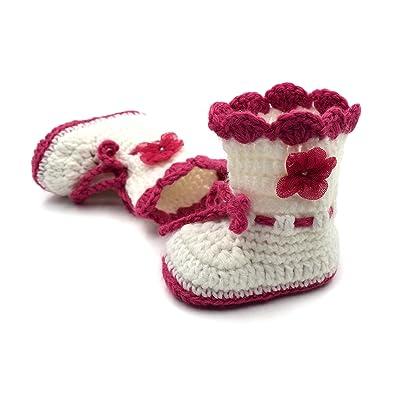 Magic Needles Handmade Knit Crochet Baby Booties Uggs Crib Shoes