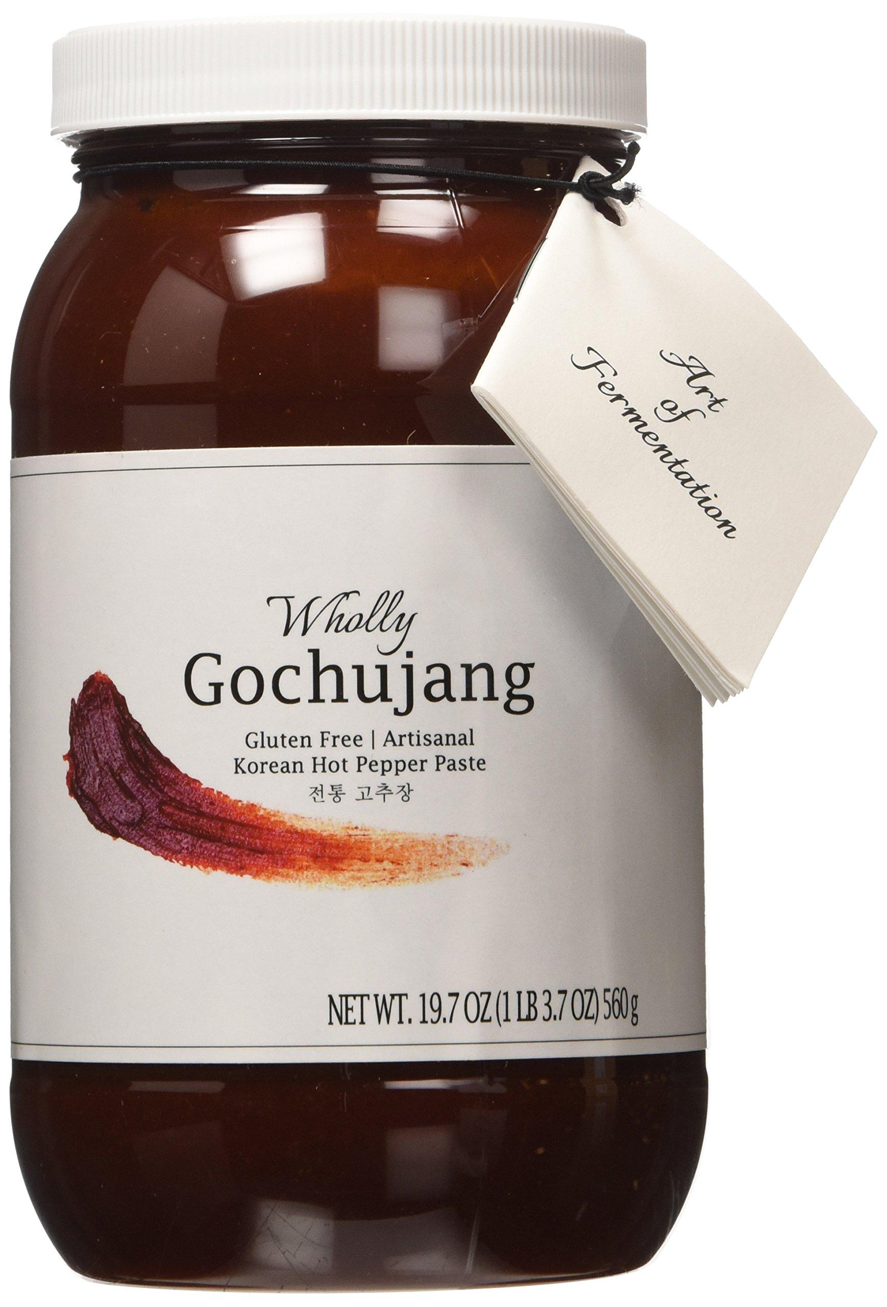 Wholly Gochujang, Premium Gluten-free Unpasteurized Artisanal Korean Hot Pepper Paste (Spicy, 19.7 oz)