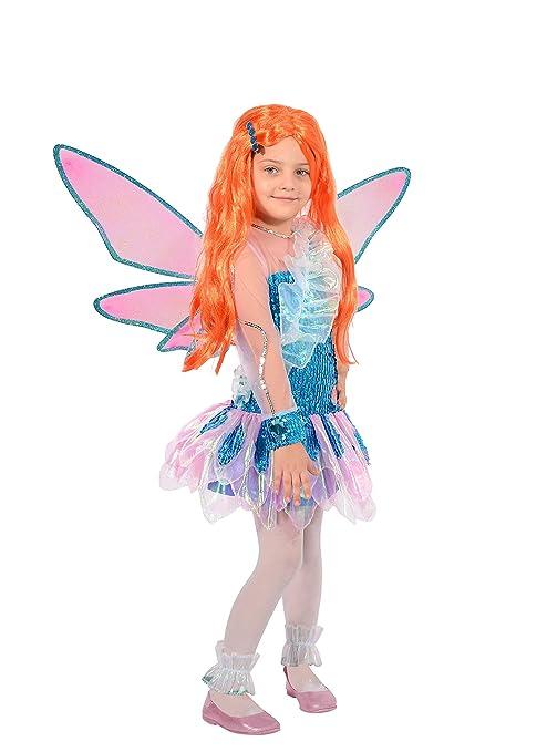 d6bce0bb00 Ciao Bloom Tynix Costume trasformazione Winx Club Bambina, 4-6 Anni, Blu,