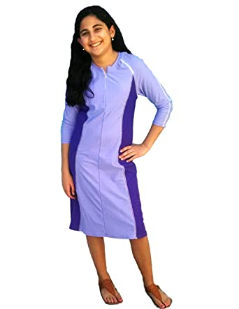 7a3355fcd5836 Amazon.com: Aqua Modesta Girls Swim Dress: Clothing