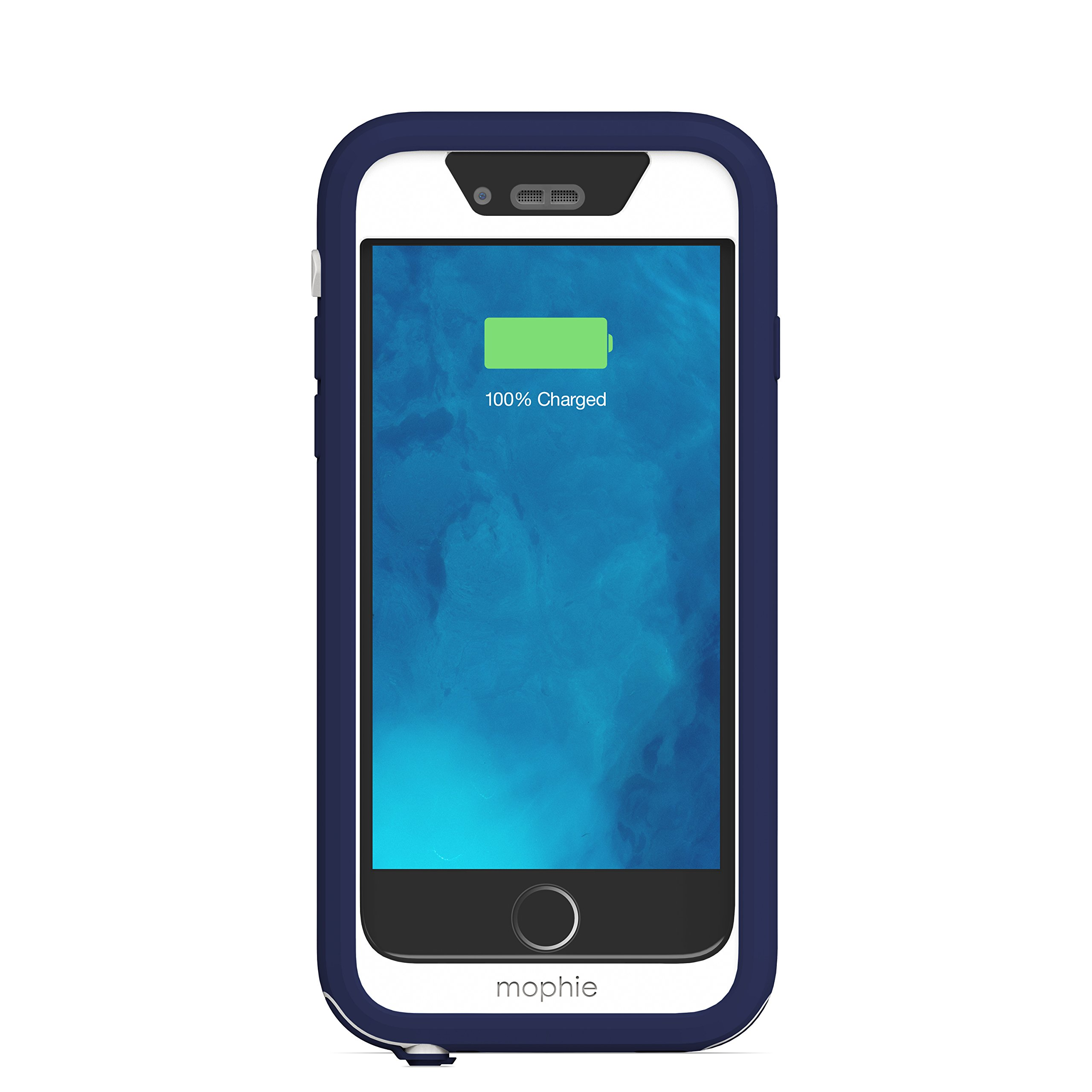 mophie juice pack H2PRO - Waterproof Mobile Protective Battery Pack Case for iPhone 6/6s - Blue