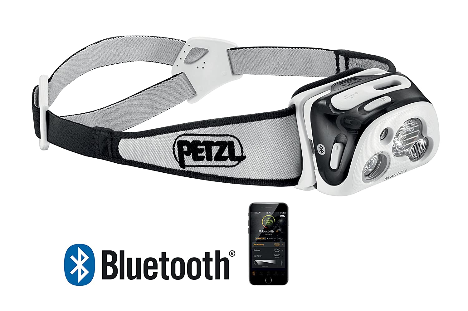 PETZL – REACTIK Headlamp, 300 Lumens, Bluetooth Enabled