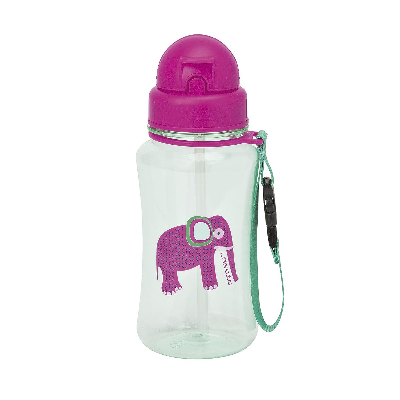 L/ässig Kinder Trinkflasche mit Strohhalm Wildlife Elephant