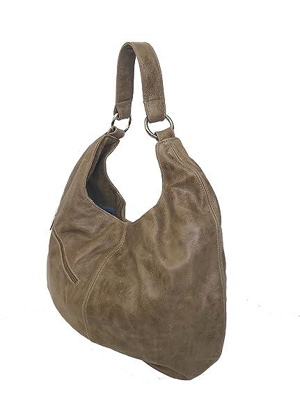62679415e0a0 Amazon.com  Fgalaze Distressed Leather Hobo Bag with Pocket