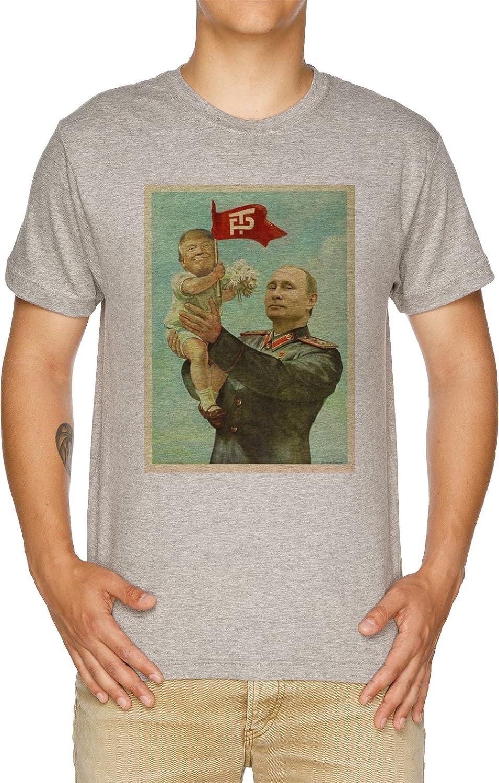 Vendax BEBÉ Triunfo con Putin Camiseta Hombre Gris ...