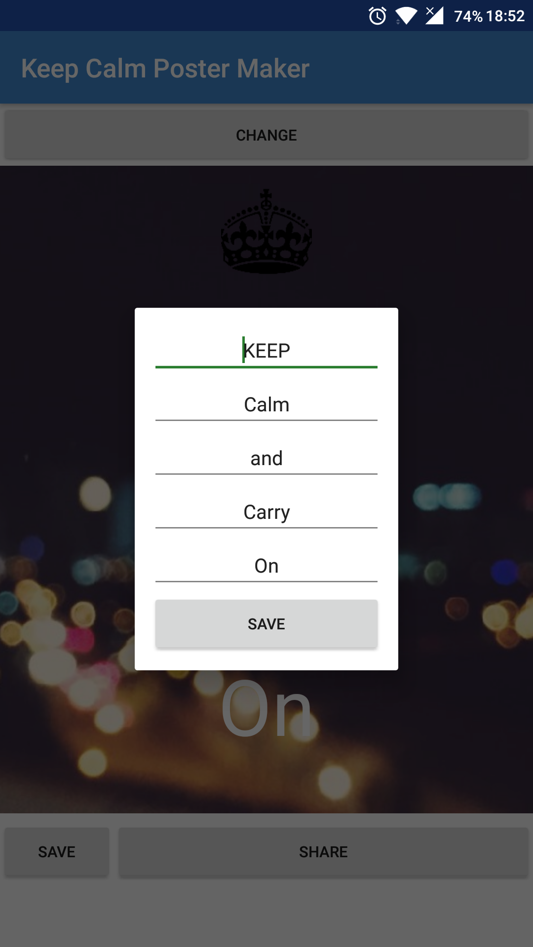 amazon com keep calm poster maker appstore for android