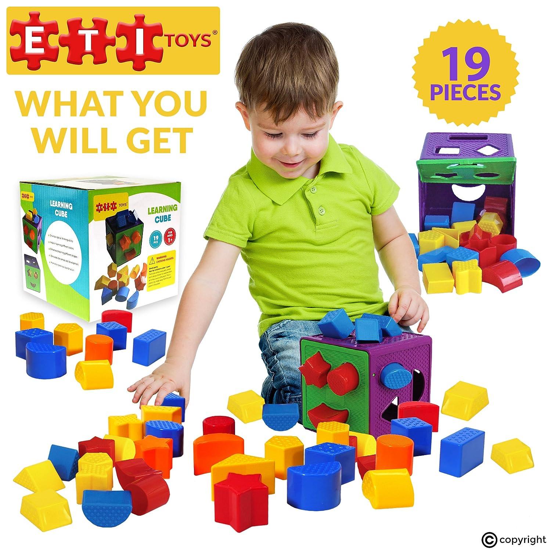 ETI Toys | Juego Unique Educational Sorting & Matching para niños. Una caja colorida de alta calidad para ordenar con 19 piezas-Materiales son 100% no ...