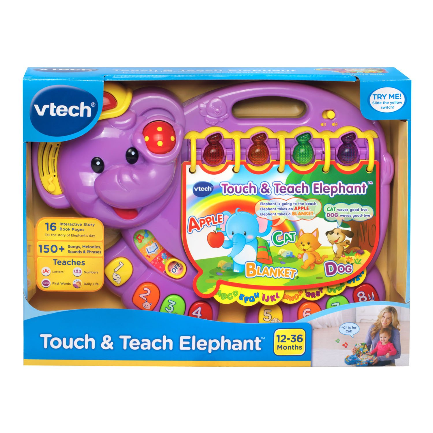 VTech Touch and Teach Elephant, Purple (Amazon Exclusive) by VTech (Image #5)