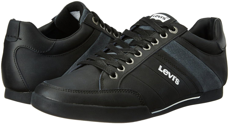 Turlock Black Leather Sneakers