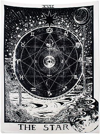 130 x 150cm, Sun /& Moon /& Star Alumuk Tarot Tapisserie Wandbehang Wandteppich Mandala Tuch Wandtuch Mittelalterliche Europa Divination Tapestry The Moon The Star The Sun ALS Dekotuch//Tagesdecke