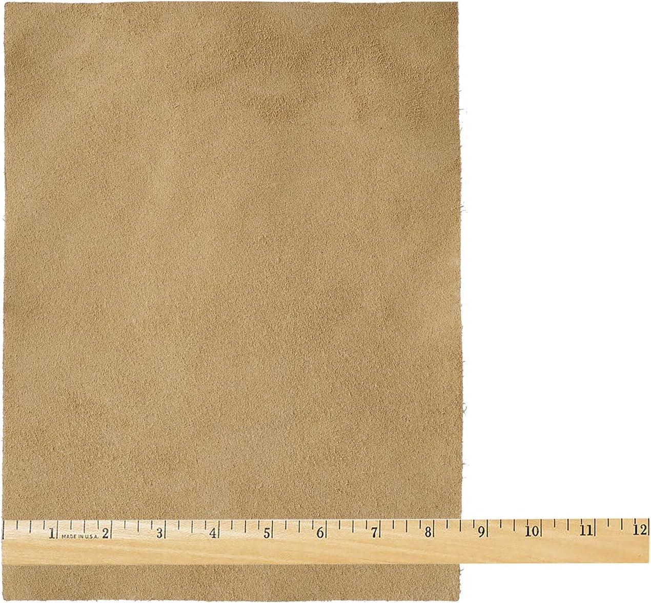 8.5x11 Realeather Suede Craft Sheet Beige