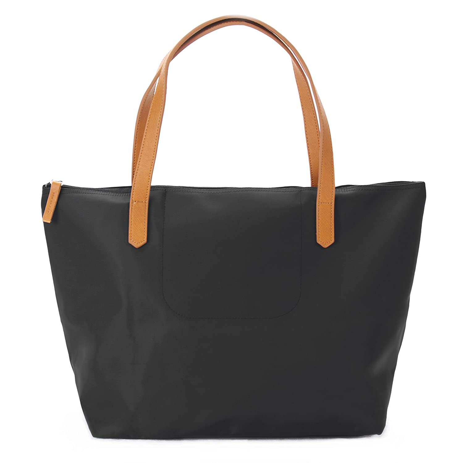 95fb2cd39 Amazon.com: Korvara Nylon Tote Bag - Nylon & Vegan Saffiano Leather Basic  Shoulder Handbag for Women: Clothing