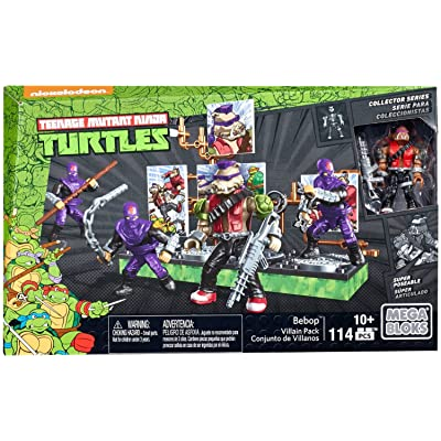 Mega Construx Teenage Mutant Ninja Turtles Collectors Bebop Villain Pack: Toys & Games