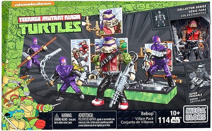 Mega Bloks - Bebop y su Banda de Villanos, Tortugas Ninja, Juego de construcción (Mattel DMW29)